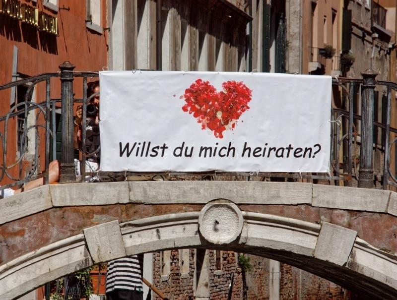 Heiratsantrag in Venedig